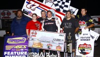 For the first time since 2012, Wayne Johnson returned to Victory Lane with the Lucas Oil American Sprint Car Series presented by MAVTV American Real...