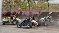 Thrills and spills from Saturday and Sunday at the 4-Crown Nationals...