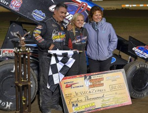 Jessica Zemken Wins the Canadian Sprint Car Nationals