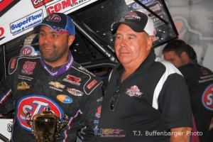 Donny Schatz with Don DeWitt. - T.J. Buffenbarger Photo
