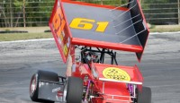 Auto Value Bumper to Bumper sprint car series at Angola Motorsports Speedway...