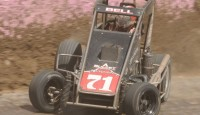 Christopher Bell won the POWRi feature Friday night at Lincoln Speedway.
