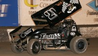 Which of the following upset victories was the biggest during the 2014 World of Outlaws STP Sprint Car Series season...