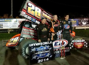 Steve Poirier wins Fonda over Stewart Friesen and Jeff Cook.  - ESS Photo