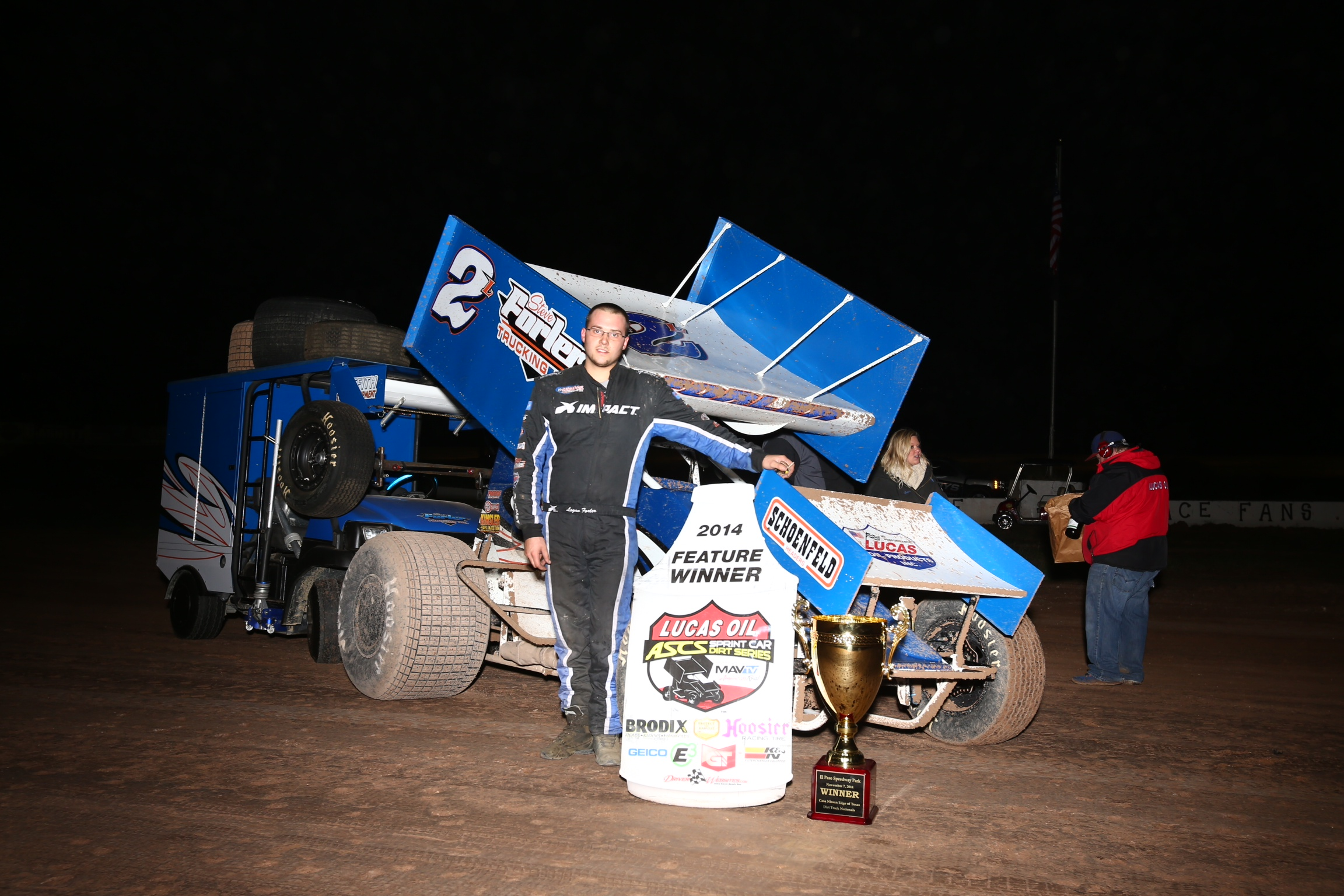 Logan Forler Captured His Fourth Lucas Oil ASCS National Tour Victory  Friday At The El Paso