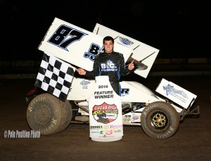 Aaron Reutzel topped the Lucas Oil ASCS presented by MAVTV American Real at the Southern New Mexico Speedway. (ASCS / Michael Diers)