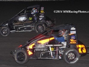 #68 Ronnie Gardner & #73 Trey Marcham – Honda USAC Western Midget Championship Contenders. Photo by MMRacingPhotos.com.