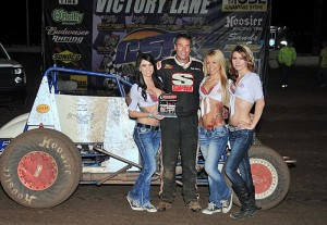 Bobby Marcum won his second Challenge Cup sprint car feature of the weekend on Saturday night at Canyon Speedway Park. - TWC Photo