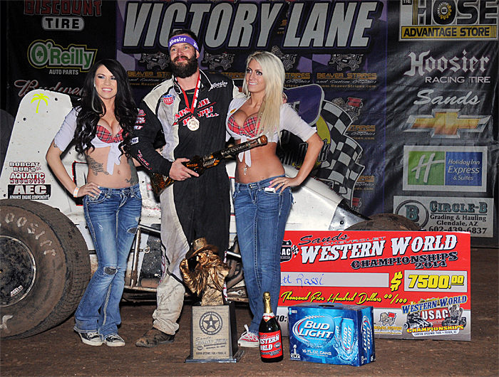 Rossi Wins Western World Sprint Car Feature