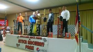 2014 Attica Raceway Park track champions on stage. - Image courtesy of Attica Raceway Park
