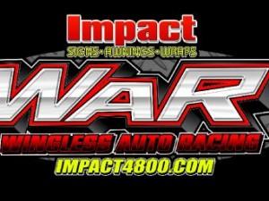 Wingless Auto Racing WAR Logo 2015