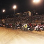Parade lap at the Oval Nationals. - Doug Allen Photo