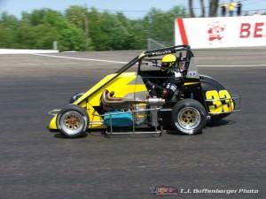 Patrick Wilda in 2007 at Kalamazoo Speedway. - T.J. Buffenbarger Photo