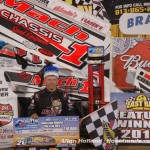 Mark Smith in victory lane following his victory on Saturday at East Bay Raceway Park. (Alan Holland/hoseheads.com Photo)