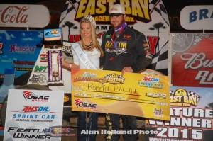 Robert Ballou in victory lane at East Bay Raceway Park. (Alan Holland / Hoseheads.com)