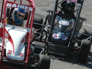 Clayton GAines and Jessica BEan at Anderson Speedway