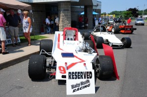 Oswego native Larry Trenca debuted his restored Steve Gioia Jr. Baby Ruth Supermodified during last year's Oswego Speedway Old-Timers Reunion. (Bill Taylor)