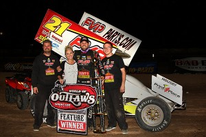 Brian with the team in Victory Lane in Tucson (Michael Diers – Pole Position Photo)