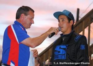 Ryan Ruhl being interviewed by John Gibson. (T.J. Buffenbarger Photo)