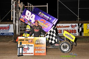 Ryan Smith picked up the victory during the HD Supply Spring Nationals at Attica Raceway Park. (Mike Campbell Photo)