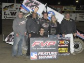 Wayne Johnson in Victory Lane (Rob Kocak Photo)