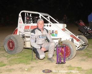Chett Gehrke was the big winner at the Montpelier Motor Speedway. (Bill Miller Photo)