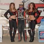 Robert Ballou won the USAC Amsoi National Sprint Car Feature Saturday night at Eldora Speedway. (Bill Miller Photo)