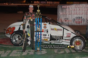 Kody Swanson won the Rollie Beale Classic on Friday night at Toledo Speedway. (R&S Racing Photo)