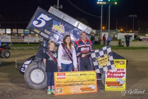 Byron Reed in victory lane during F.A.S.T. program at Fremont Speedway -(CJ Gilbert Photo)