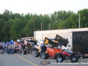 Pit area at Kalamazoo Speedway. (T.J. Buffenbarger Photo