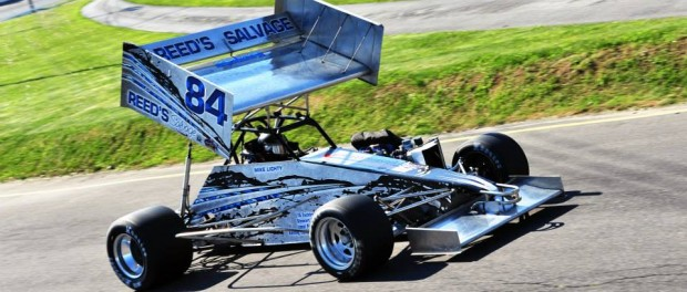 Mike Lichty is the current ISMA Supermodified track record holder at Oswego Speedway with a lap of 14.829 seconds.  (Bill Taylor)