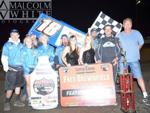 Jason Solwold got the job done on the opening night of the Fred Brownfield Classic at Grays Harbor Raceway. The win is Jason's third in four nights. (ASCS / Malcolm White)