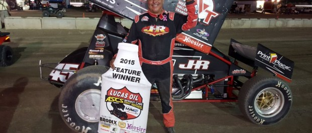 Johnny Herrera picked up his third Lucas Oil ASCS National Tour victory of the 2015 season, taking the top step at the Black Hills Speedway. (ASCS Photo)