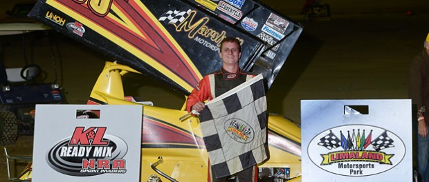 Caleb Griffith won the Night Before the Reynolds Friday night at Limaland Motorsports Park.  (Mike Campbell Photo)
