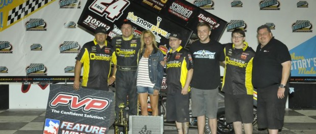 Terry McCarl picked up his 55th career Knoxville win with the FVP National Sprint League Saturday night (Rob Kocak Photo)