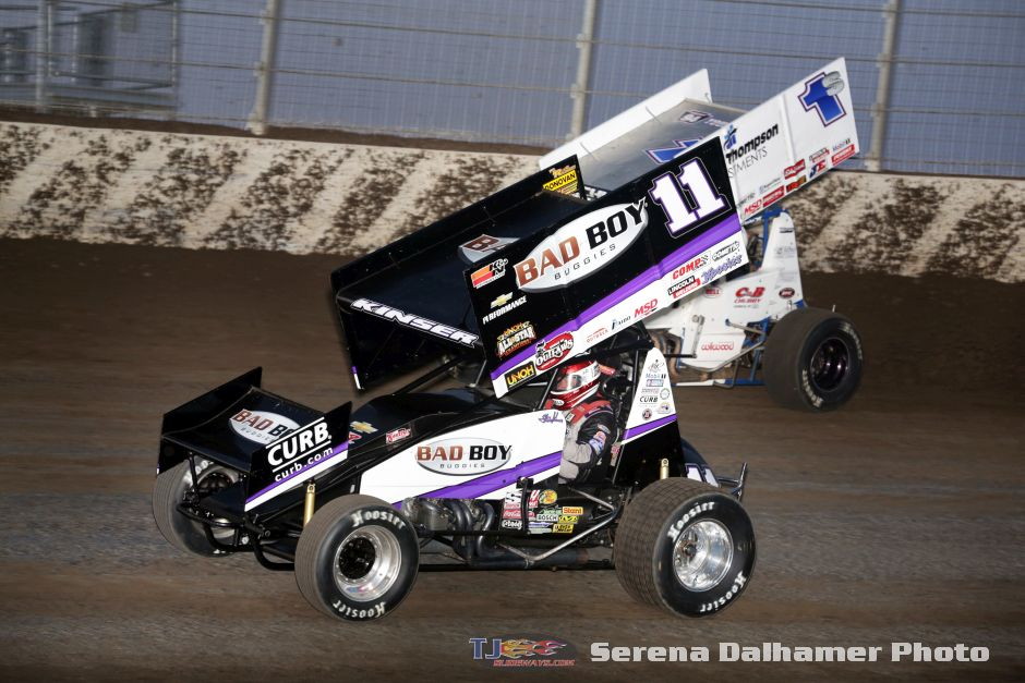 Steve Kinser (11) and Logan Schuchart (1S) (Serena Dalhamer photo)