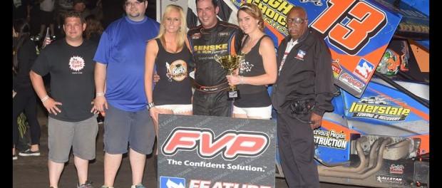 Mark Dobmeier topped the FVP National Sprint League Sunday night at Huset's Speedway (Rob Kocak Photo)