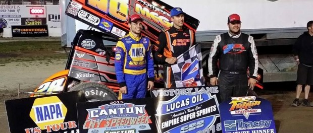 (l to r) Third place Larry Wright, winner Steve Poirier, and second place Justin Barger. (ESS Photo)