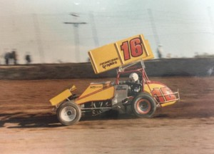 Jeff Gordon at Millstream Speedway.  (Image courtesy of Larson-Marks Racing)