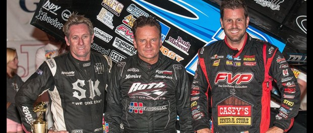 Craig Dollansky picked up the FVP National Sprint League win over Brian Brown (R) and Brooke Tatnell (L) (Dave Hill Photo)