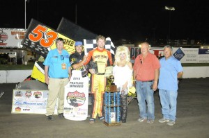 Jack Dover was the man to beat at the I-80 Speedway, winning NIght 2 of the Road to Knoxville. (ASCS / Rob Kocak)