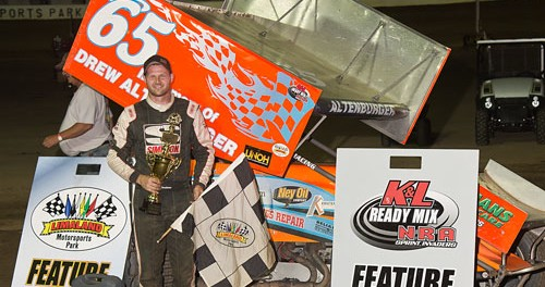 Jared Horstman won the NRA Sprint Invader feature at Limaland Motorsports Park. Mike Campbell Photo www.campbellphoto.com