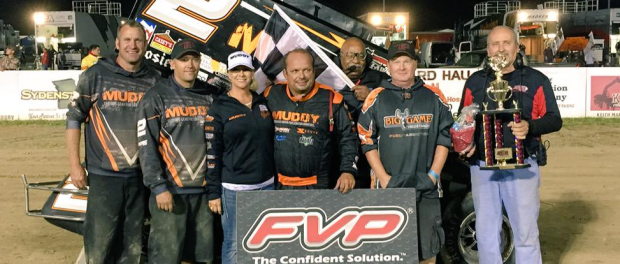 Danny Lasoski grabbed FVP National Sprint League win #8 Friday night at Randolph County Raceway near Moberly, Missouri. (NSL Photo)
