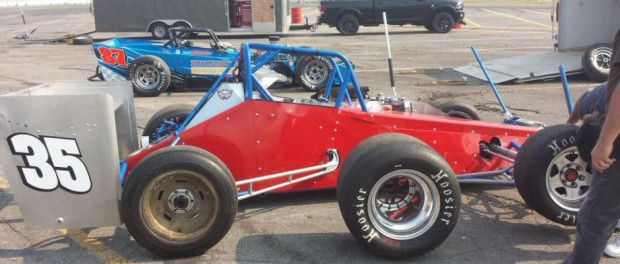 Bob Magner led day two Classic Week testing at Oswego Speedway with the Allegresso built No. 35 Supermodified. (Dan Kapuscinski Photo)