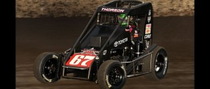 "Tanner Thorson of Minden, Nevada won Saturday night's ""Gold Crown Midget Nationals"" at Granite City, Illinois' Tri-City Speedway.  It was Thorson's second consecutive USAC Honda National Midget victory and thrust him into the championship race where he sits just one point out of second place with three events to go. (David Nearpass Photo)"