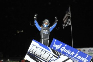 Bryan picked up his first NSL win at I-80 Speedway (Rob Kocak Photo)