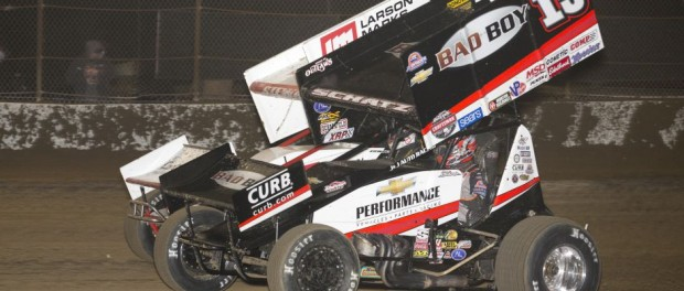 Donny Schatz (15) and Shane Stewart (2) (Serena Dalhamer photo)
