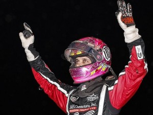 "On the strength of three victories in five nights of action at Canyon Speedway in Peoria, Arizona, Noblesville, Indiana's Bryan Clauson won the 5th annual ""Winter Challenge"" series, his second after also winning the series in 2013. (Image courtesy of USAC)"