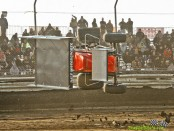 Doug Zimmerman turns over at Attica Raceway Park. (Mike Campbell Photo)