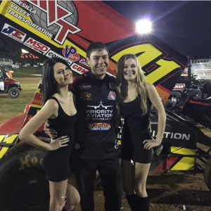 Jacob Weaver following Jason Johnson's feature victory at Placerville Speedway.  (Image courtesy of Jacob Weaver)